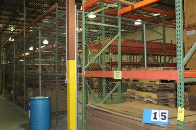 "Lot 15 - PALLET RACK SECTIONS, 12' X 42"" UPRIGHTS, 8' CROSS BEAMS"
