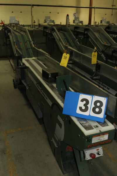 Lot 38 - FAEUILTAULT MDL 3000 SB MAGAZINE FEEDER, 16' L FEEDER W/ STAINLESS STEEL ROLL TOP CONVEYOR &
