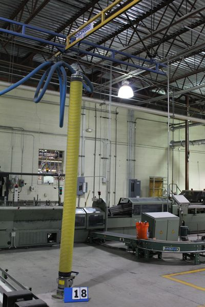 Lot 18 - GORBEL 250 LB BRIDGE CRANES, 15' SPAN, EA W/ VACUUM HOIST VACUUM ASSIST LIFT