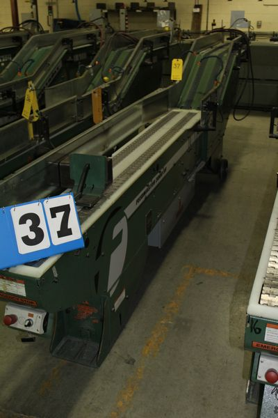 Lot 37 - FAEUILTAULT MDL 3000 SB MAGAZINE FEEDER, 16' L FEEDER W/ STAINLESS STEEL ROLL TOP CONVEYOR &