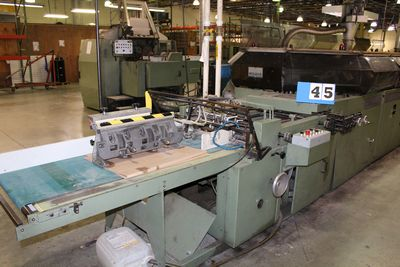 Lot 45 - KOLBUS ZU 816 20 POCKET, MFG YEAR:1990, ZU816 20 POCKET GATHERER, KM490 25 CLAMP BINDER,