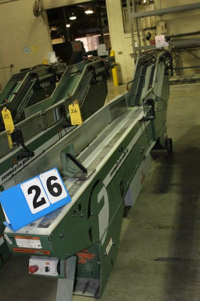 Lot 26 - FAEUILTAULT MDL 3000 SB MAGAZINE FEEDER, 16' L FEEDER W/ STAINLESS STEEL ROLL TOP CONVEYOR &
