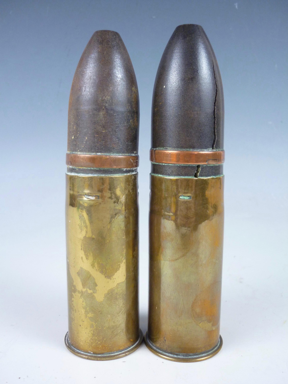 Lot 48 - A pair of inert First World War 37 mm artillery rounds