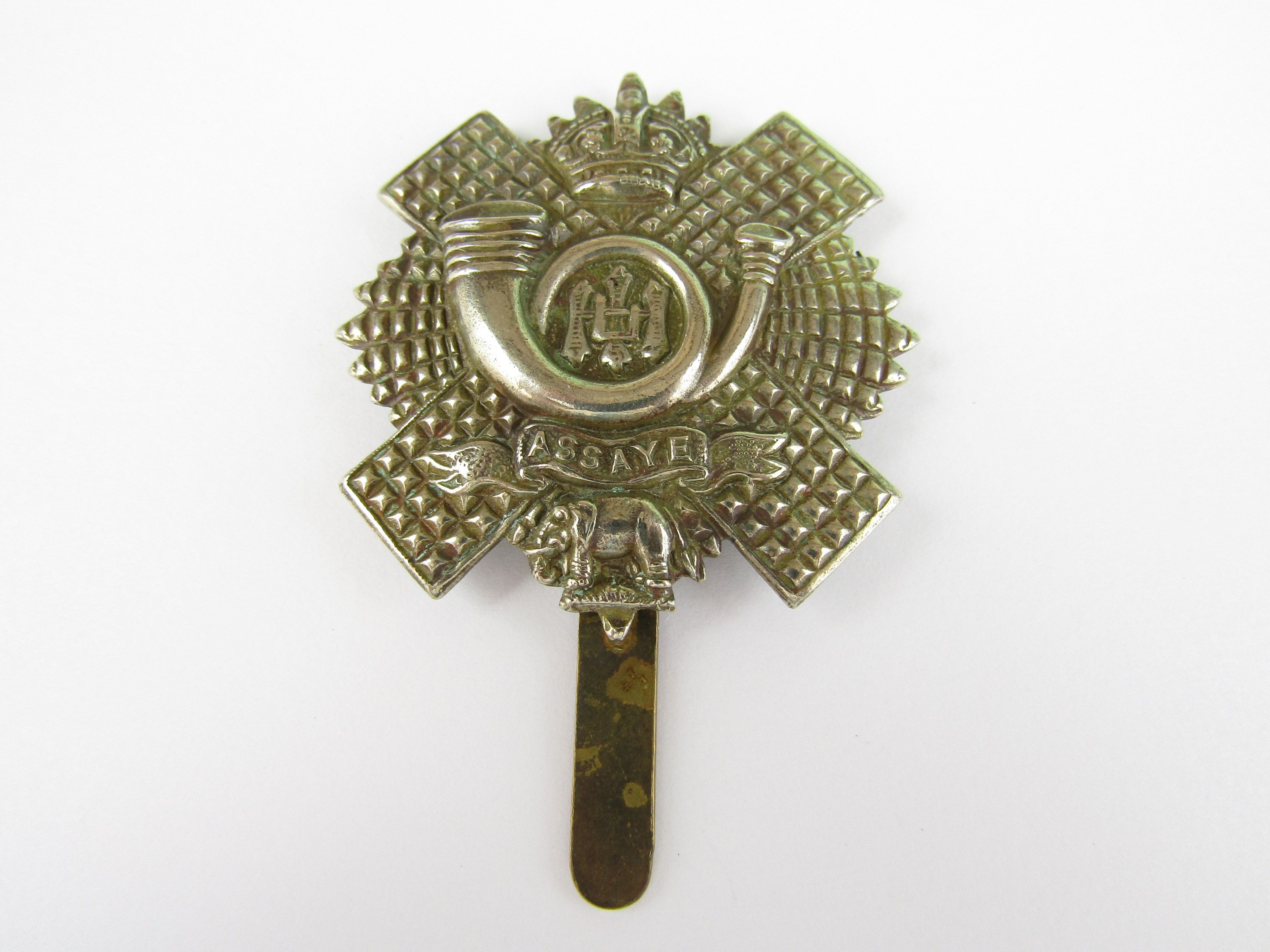 Lot 26 - An HLI other rank's pagri badge bearing Gaunt London plaque