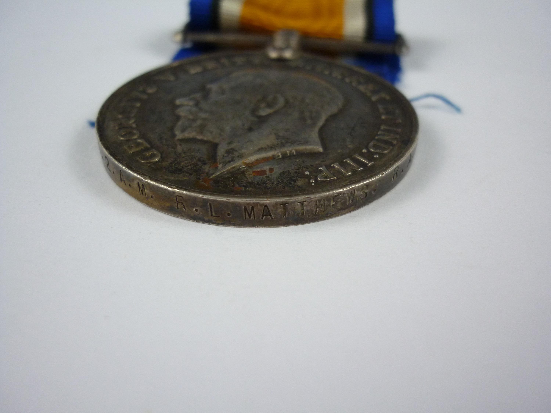 Lot 3 - A British War Medal to 148721 2 AM R L Matthews, RAF