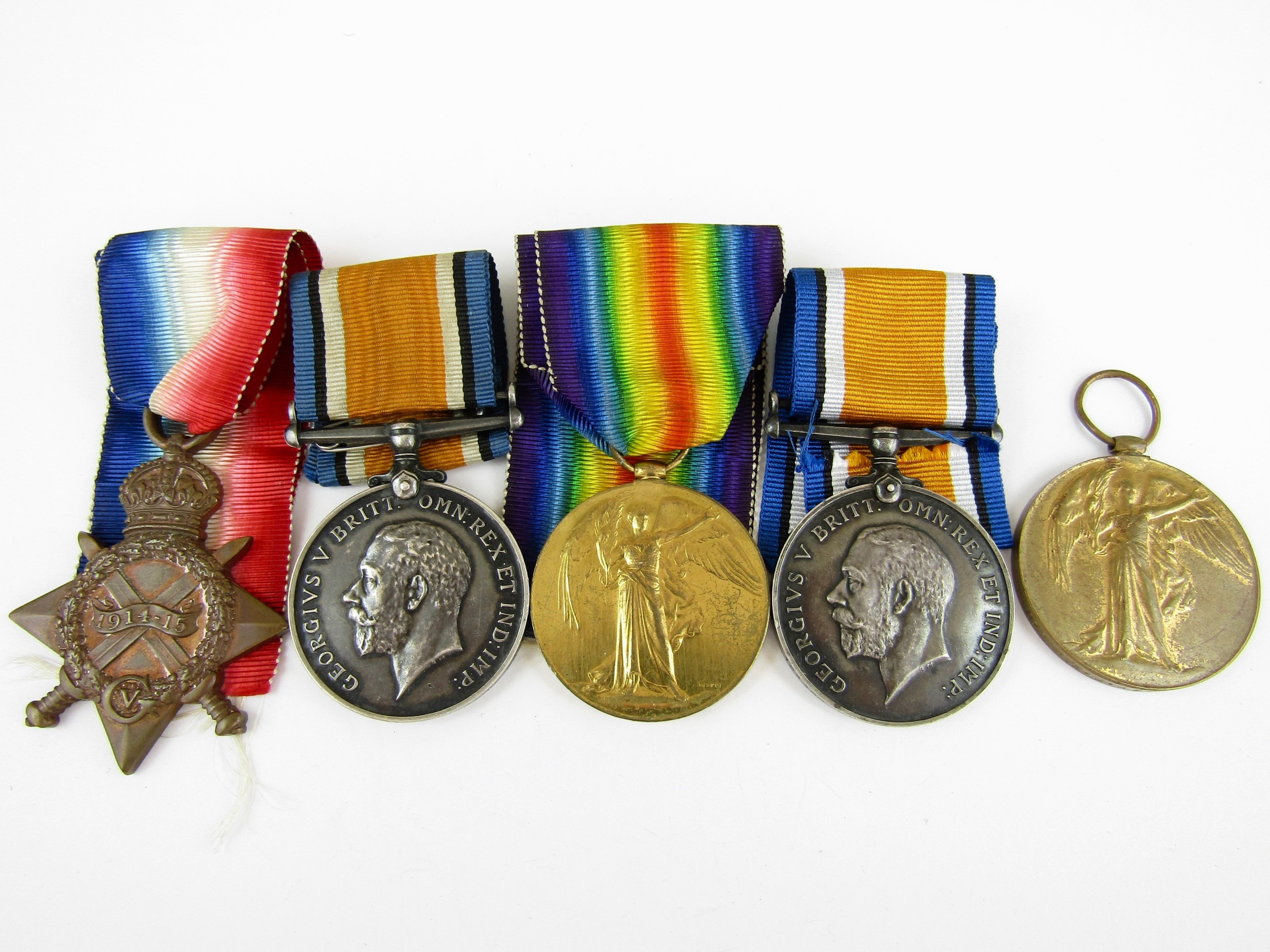Lot 17 - A quantity of British War and Victory Medals, singles respectively to 233379 Pte P Stewart, Labour