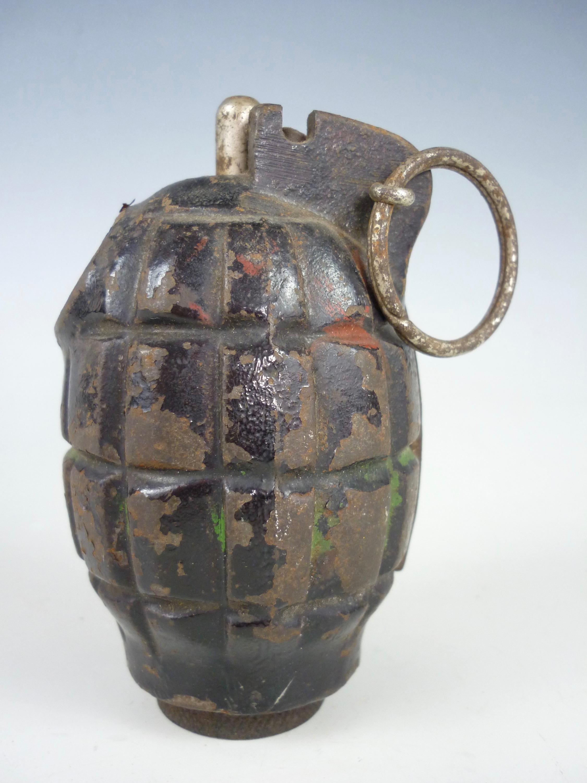 Lot 57 - An inert Second World War No 36 (Mills) Grenade