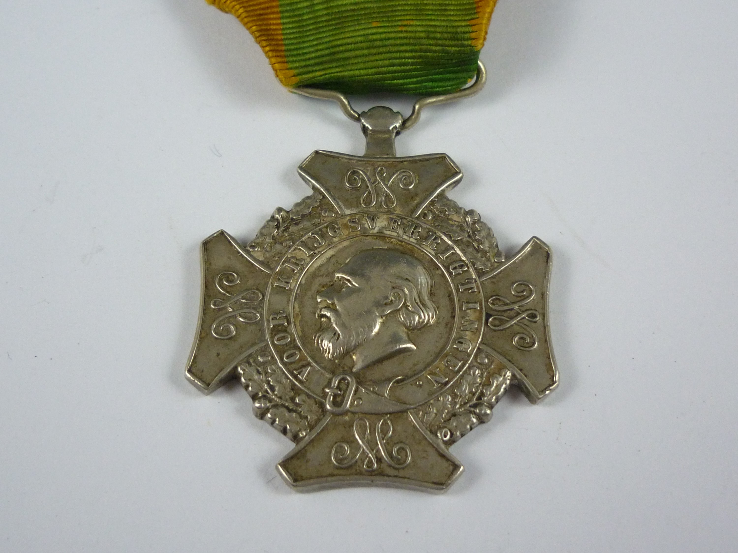 Lot 2 - A Netherlands Cross for Important War Actions medal / Expedition Cross with 'Atjeh 1873-1896'
