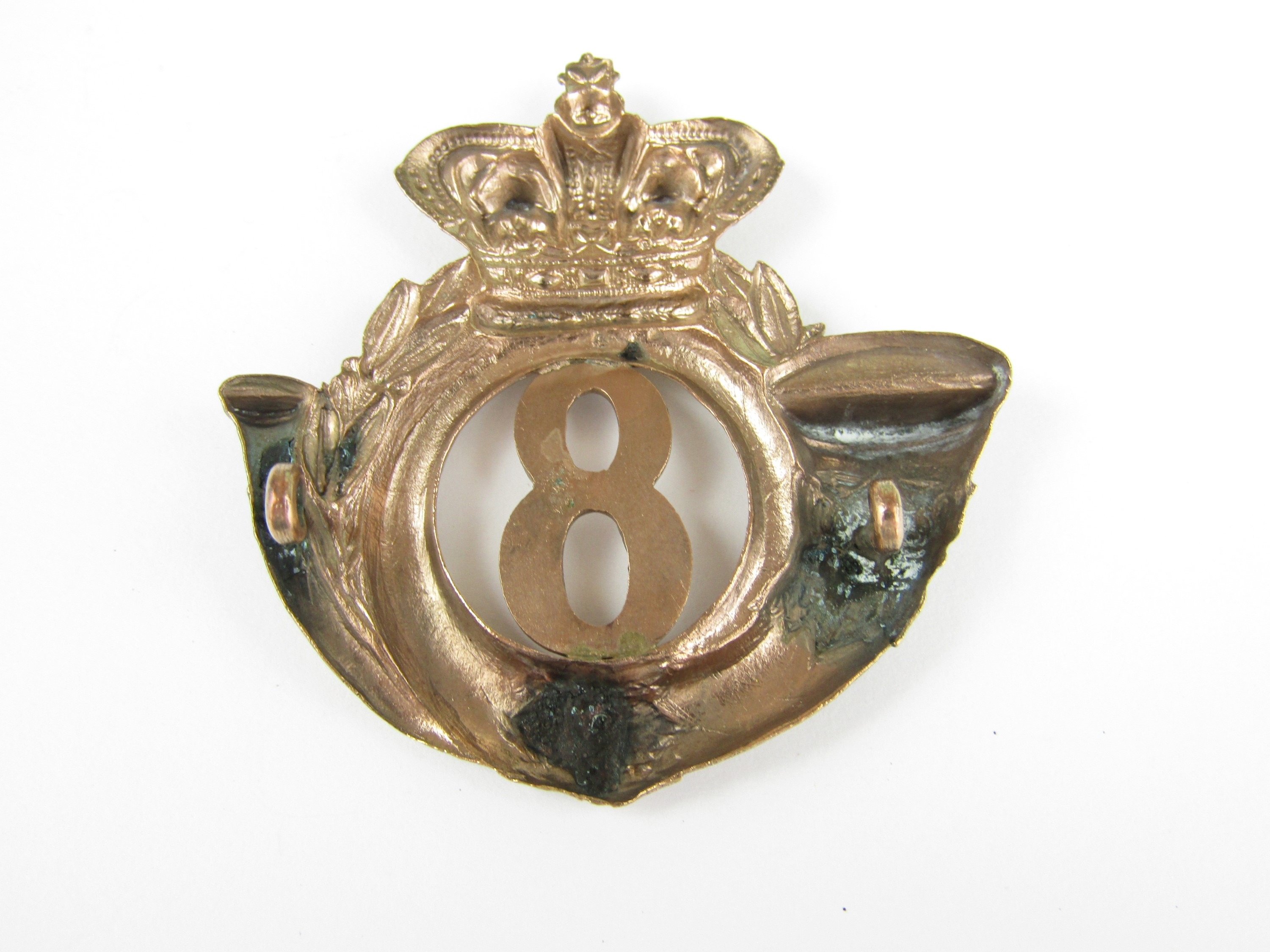 Lot 34 - An 8th Lanarkshire (Blythswood) Rifle Volunteers shako plate / glengarry badge