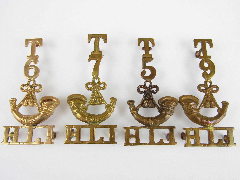Lot 24 - Four various HLI territorial shoulder titles
