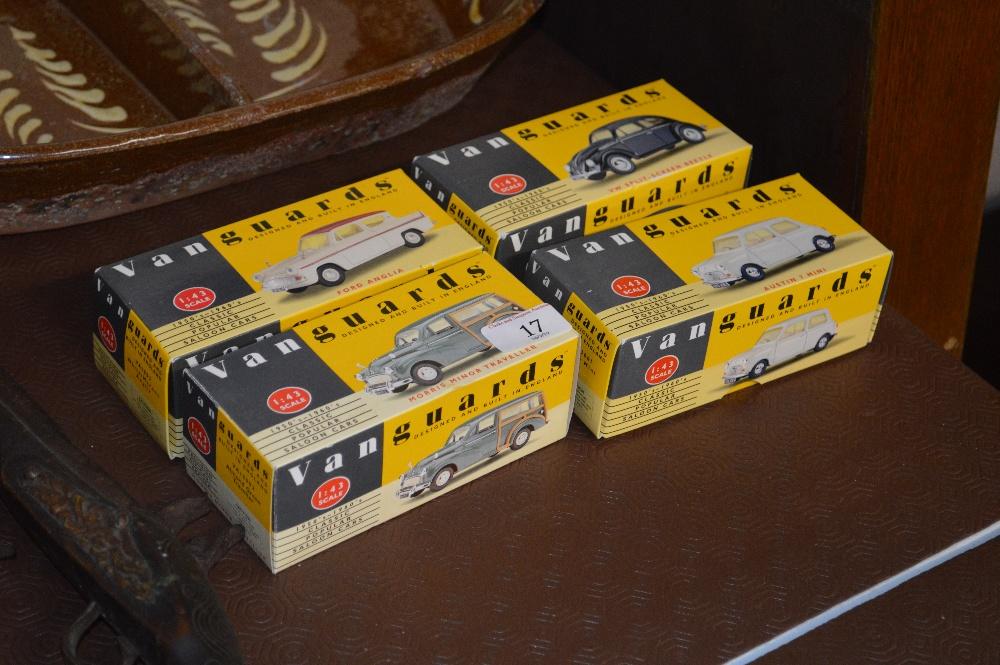 Lot 17 - Four Vanguards model cars in original boxes