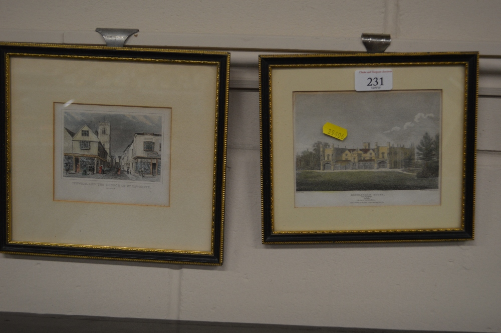 Lot 231 - Two 19th Century coloured engravings depicting Ren