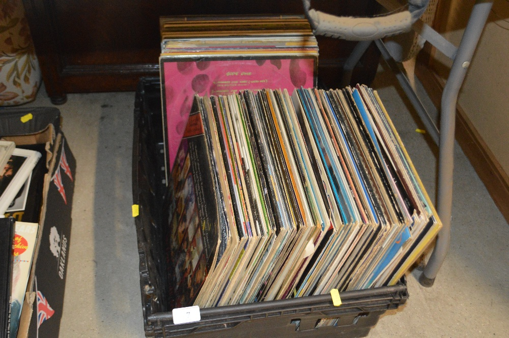 Lot 7 - A crate of rock LP's