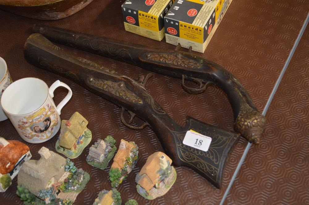 Lot 18 - Two Turkish flintlock pistols
