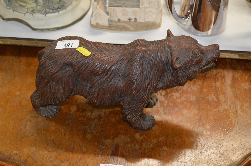 Lot 381 - A resin Black Forest style bear