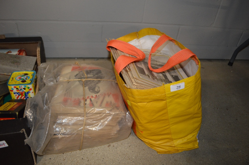 Lot 28 - A bundle and a bag of The War Illustrated magazines