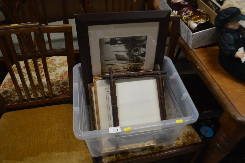 Lot 291 - A box of various prints, a coloured map etc.