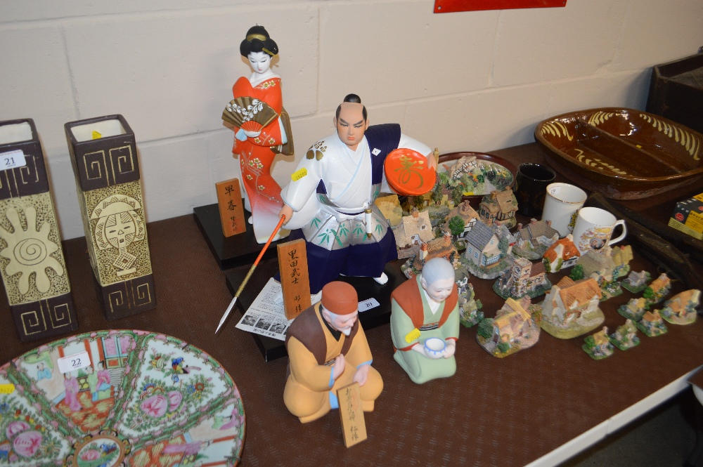 Lot 20 - A collection of Hakata dolls and figures, includin