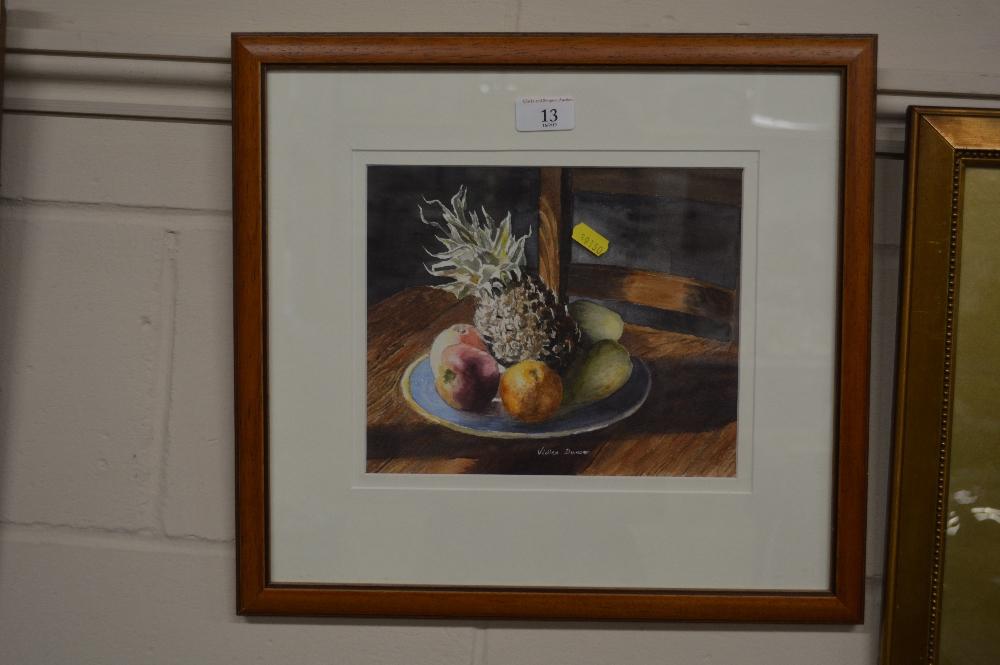 Lot 13 - Vivian Duncan, a framed and glazed still life stud