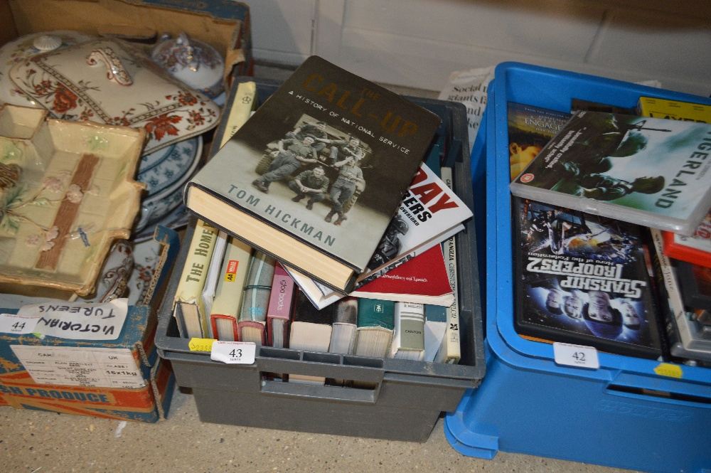 Lot 43 - A box of mostly military related books