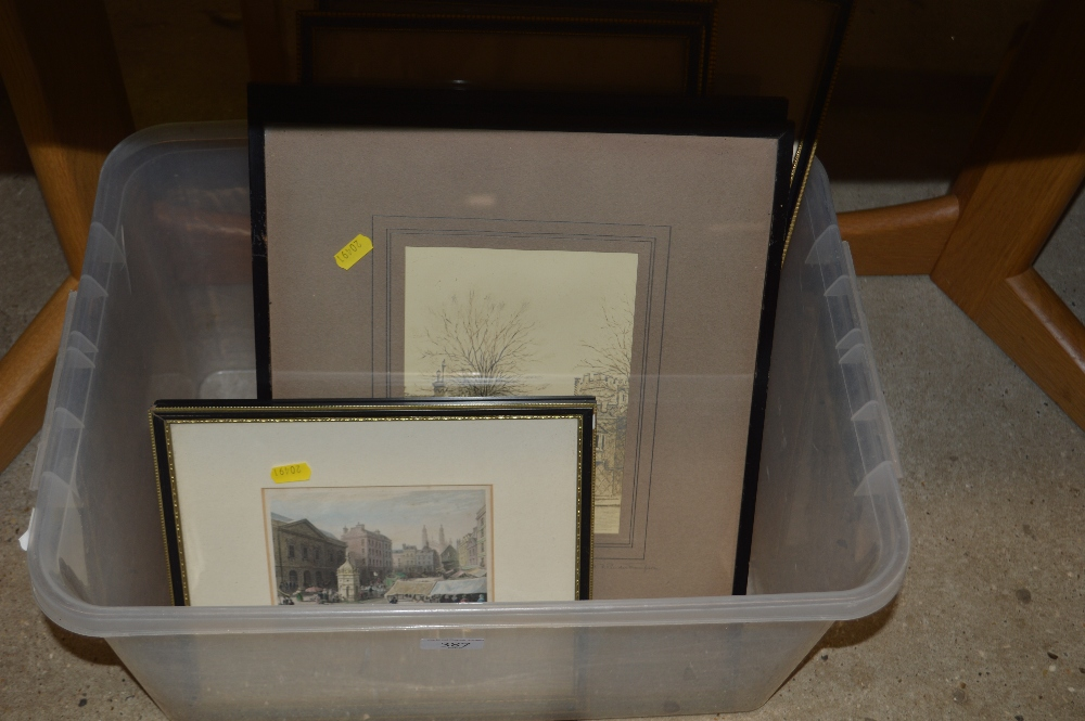 Lot 387 - A box of various prints depicting Radley College a