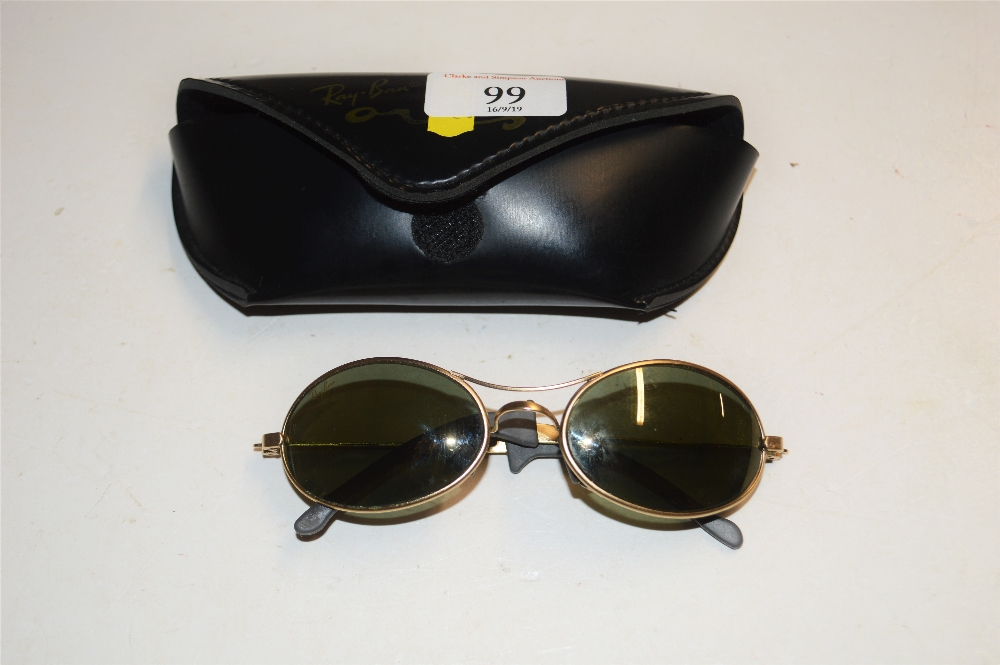Lot 99 - A pair of sunglasses with carrying case
