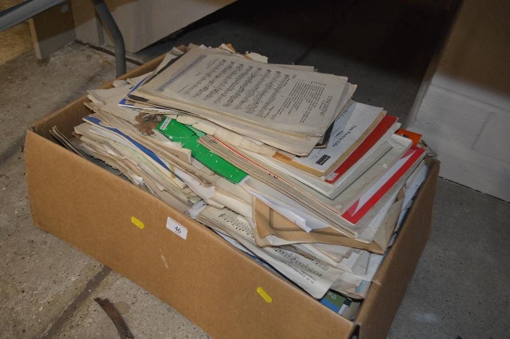 Lot 46 - A box of various sheet music