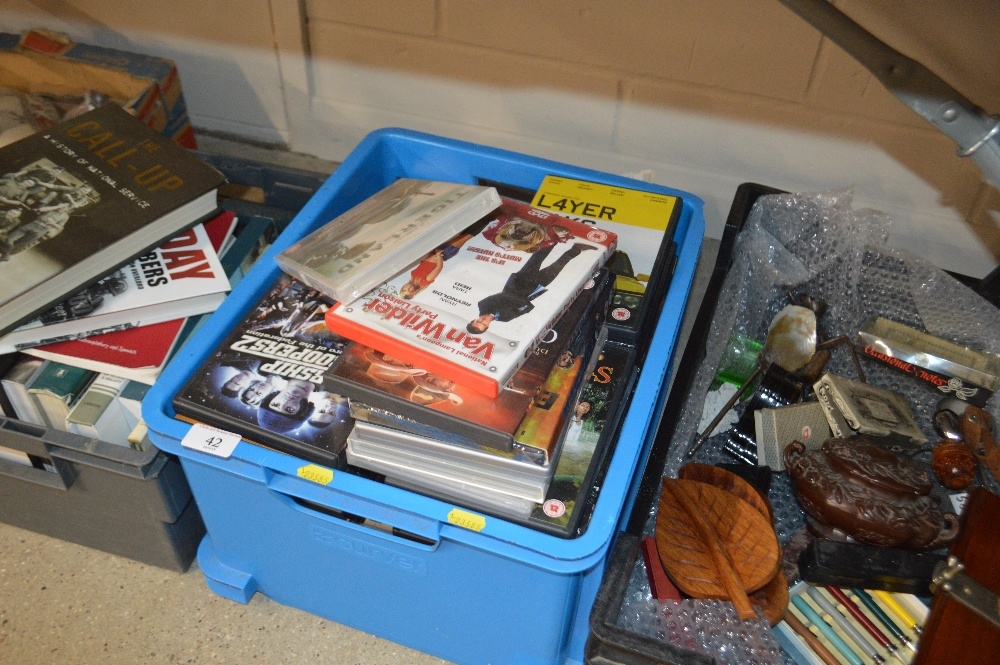 Lot 42 - A box of various DVD's