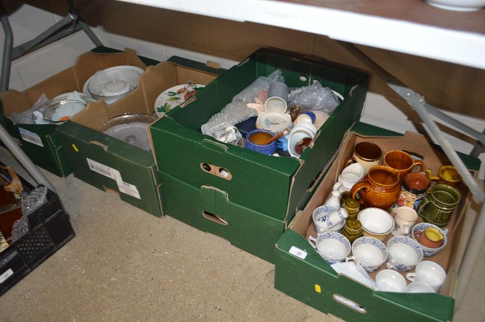 Lot 30 - Five boxes of various china and kitchenalia
