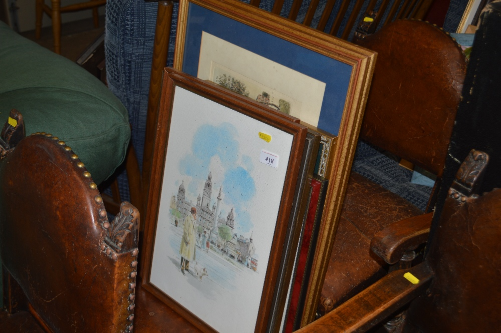 Lot 418 - A collection of framed, mostly rural prints