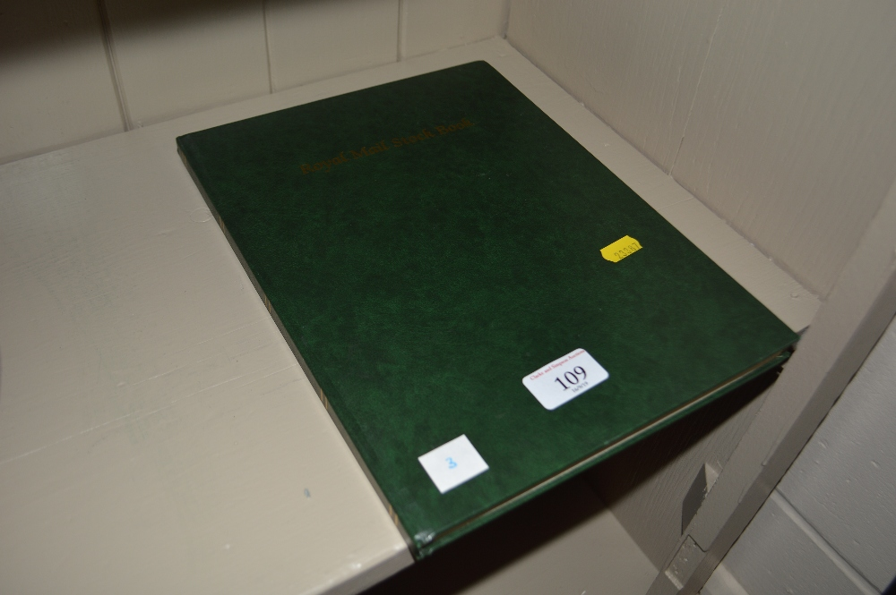 Lot 109 - A stock book and British and Commonwealth stamps,