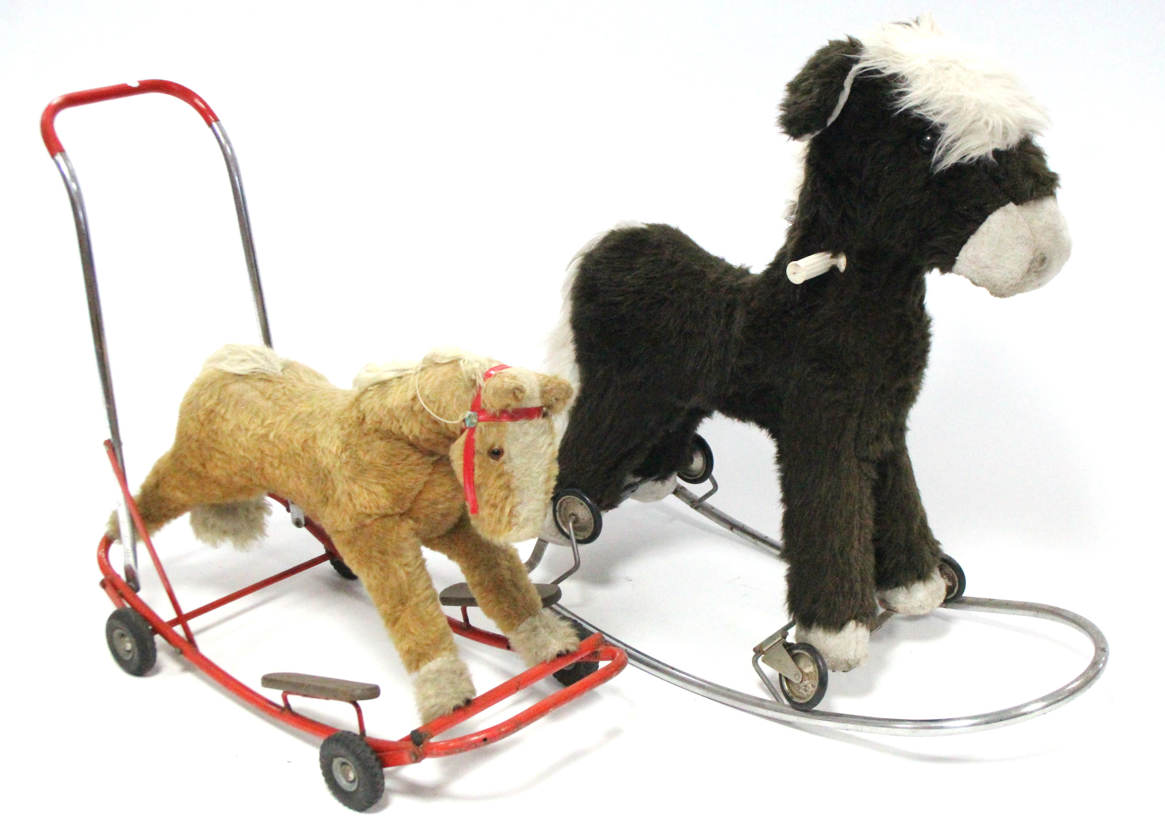 """Lot 242 - A Line Bros of Ireland """"dog"""" baby walker; & a child's pull-along/rocking horse."""