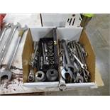 LOT: Open End Wrenches, Socket Wrenches & Sockets
