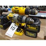 LOT: (2) Dewalt Model DCD940 & DW990 Cordless Drill/Drivers, with (1) Battery & (2) Chargers