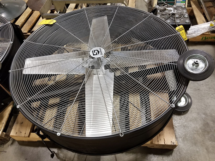 STRONGWAY 48'' BELT DRIVE DRUM FANS, MODEL 49935, 120V, 60HZ, 9A, LO/HIGH SWITCH - Image 2 of 4