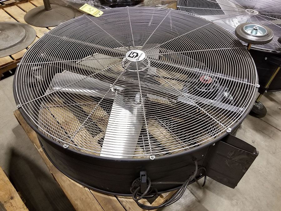STRONGWAY 48'' BELT DRIVE DRUM FANS, MODEL 49935, 120V, 60HZ, 9A, LO/HIGH SWITCH - Image 3 of 3