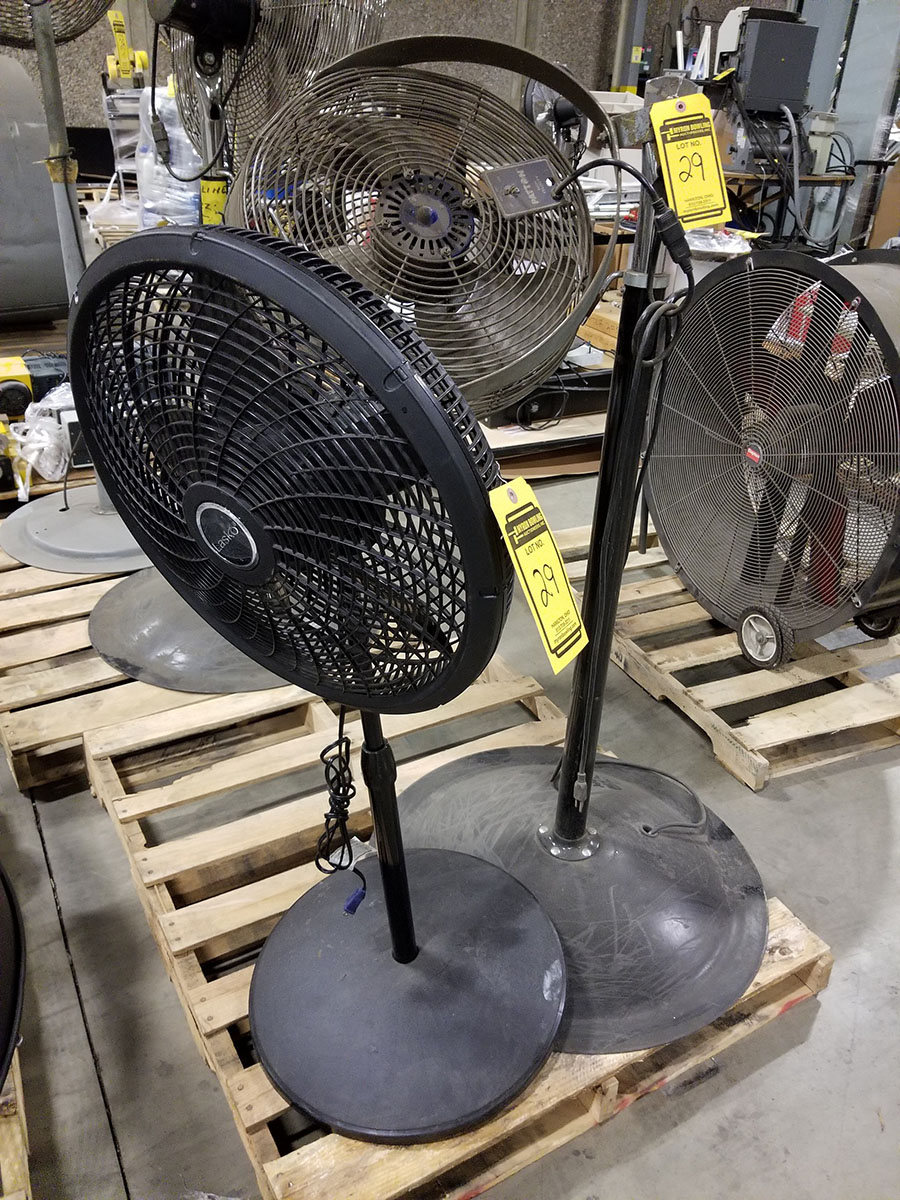 (4-6) ASSORTED PEDESTAL FANS – METAL & PLASTIC – 12'' TO 24'' - Image 5 of 9