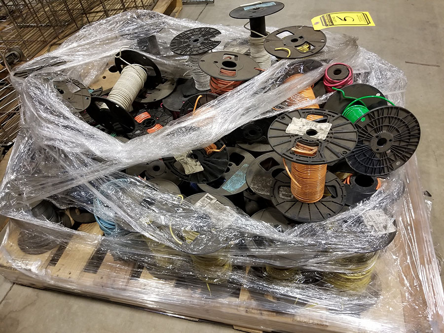 (2) PALLETS OF (30+) ASSORTED SPOOLS OF LOW VOLTAGE STRAND COPPER WIRE, INSULATED, SOME BRAIDED & - Image 3 of 8