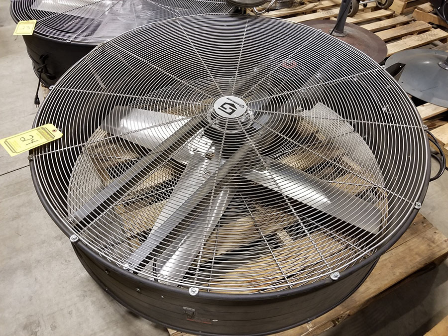STRONGWAY 48'' BELT DRIVE DRUM FANS, MODEL 49935, 120V, 60HZ, 9A, LO/HIGH SWITCH - Image 2 of 3