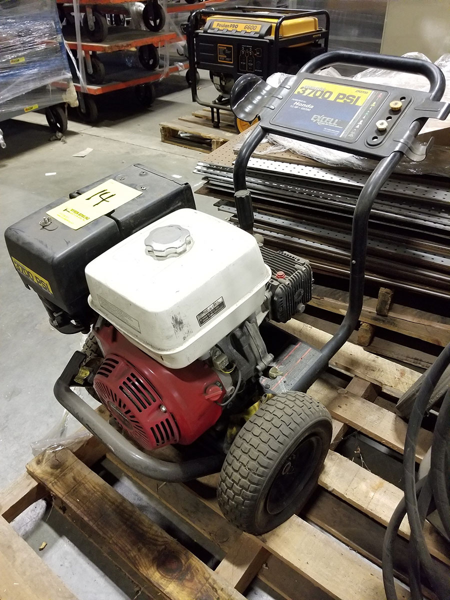 HONDA ZR3700COMMERCIAL GAS POWERED PRESSURE WASHER,13-HP GX390 ENGINE, 3,700 PSI, WAND AND (2) - Image 4 of 5