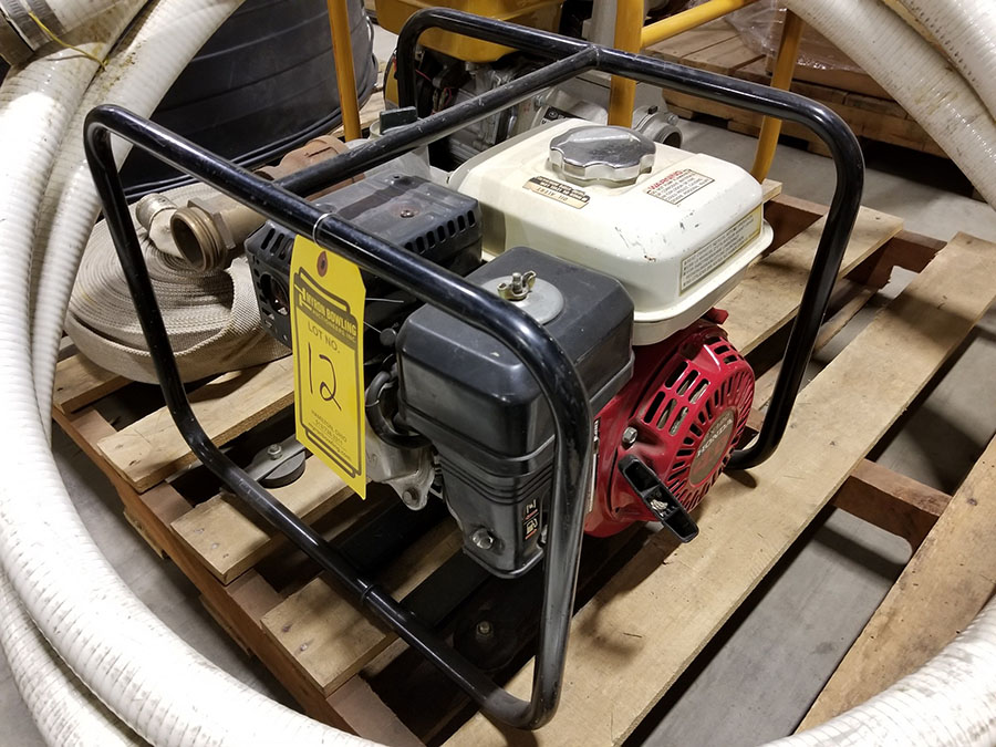 HONDA WATER PUMP, MODEL WP20X, 2'' X 2'' CONNECTORS,158 GPM, 3,600 RPM, S/N WZBE-1406821, 85' TOTAL - Image 5 of 6