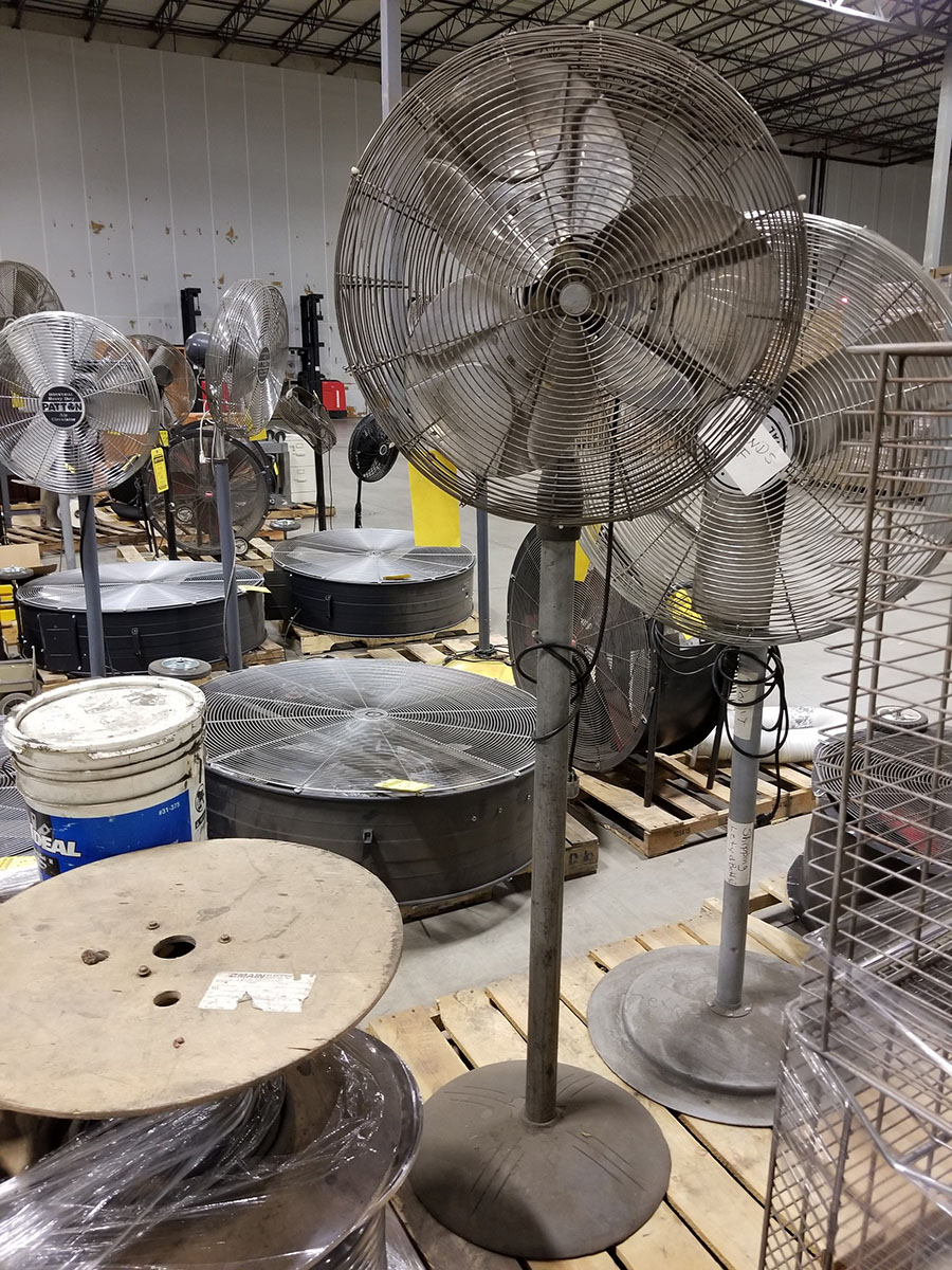 (4-6) ASSORTED PEDESTAL FANS – METAL & PLASTIC – 12'' TO 24'' - Image 3 of 9
