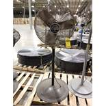 (5) PATTON 24'' PEDESTAL FANS
