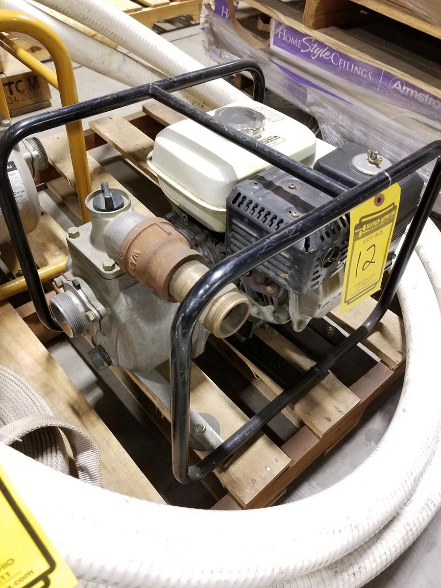 HONDA WATER PUMP, MODEL WP20X, 2'' X 2'' CONNECTORS,158 GPM, 3,600 RPM, S/N WZBE-1406821, 85' TOTAL - Image 3 of 6