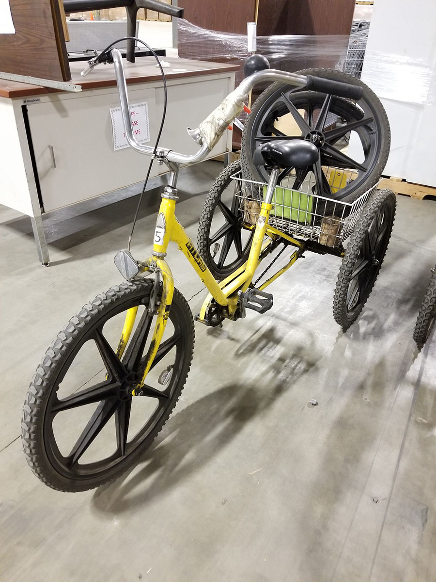 ATLAS TRI-CYCLE, MAG WHEELS, FRONT HAND BRAKE, REAR BASKET - Image 2 of 3