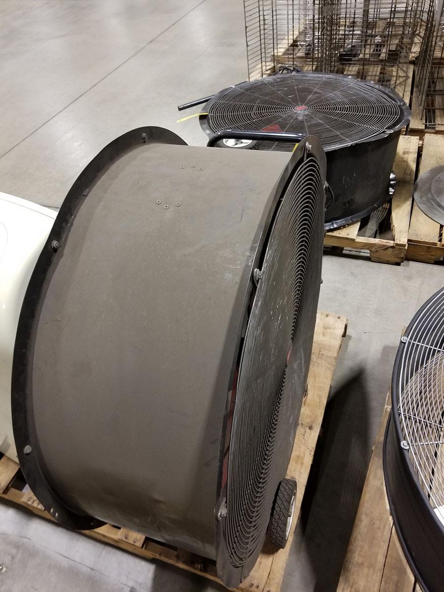 (2) DAYTON 36'' MOBILE AIR CIRCULATORS,MODEL 3C674D, 825 RPM, 1/2 HP - Image 4 of 5