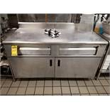 ADVANCE TABCO 5' X 36'' X 35'' STAINLESS STEEL COMMERCIAL WARMING DRAWER STATION