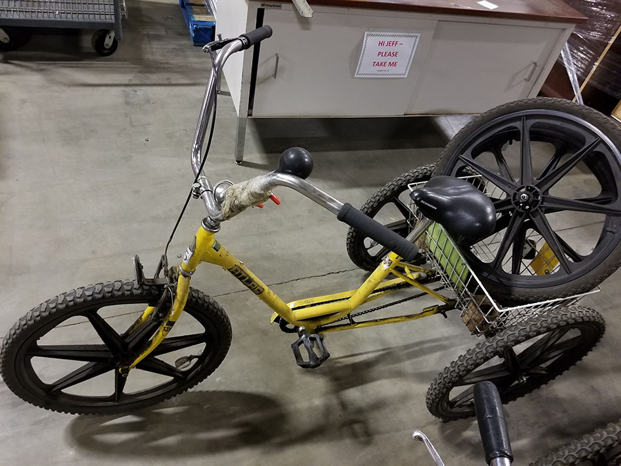 ATLAS TRI-CYCLE, MAG WHEELS, FRONT HAND BRAKE, REAR BASKET - Image 3 of 3