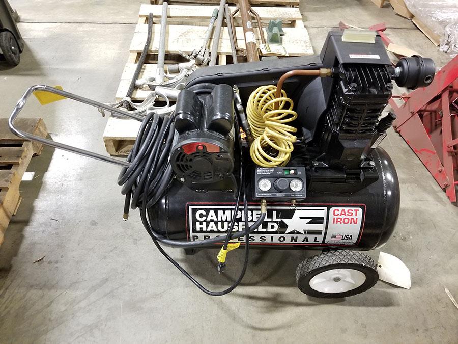 CAMPBELL HAUSFELD PROFESSIONAL PORTABLE AIR COMPRESSOR, MODEL VT623201AJ, 4.5 HP, 20-GALLON, 125 MAX - Image 3 of 7