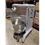 2006 UNIVEX SRM60 STAINLESS STEEL COMMERCIAL MIXER, 19'' DIA. BOWL, TIMER, 3-PHASE, S/N M015541